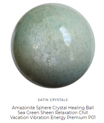 green sheen amazonite healing ball for the heart chakra by satin crystals