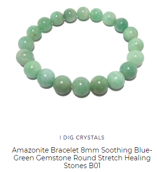 amazonite bead bracelet hand made by satin crystals