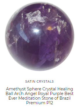 royal purple brazil amethyst in a rare rich color has spiritual energy by satin crystals