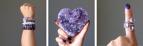 amethyst stones and jewelry for sale at satin crystals