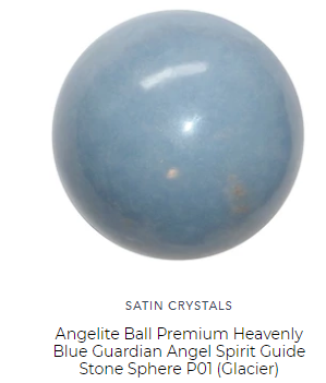 angelite crystal ball sphere by satin crystals