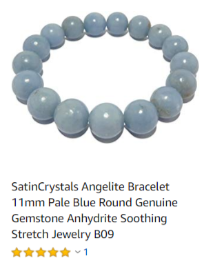 5 star angelite bead bracelet custom made at satin crystals