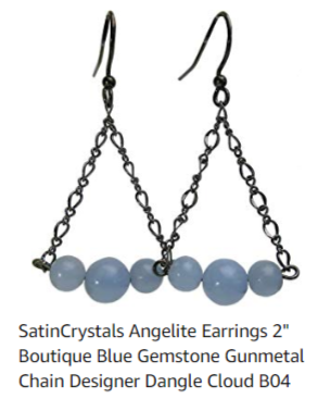 satin crystals angelite earrings designed by sheila