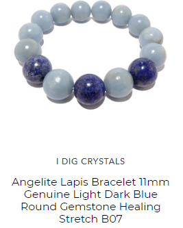 angelite lapis bracelet for meditation and third eye opening by satin crystals designer jewelry