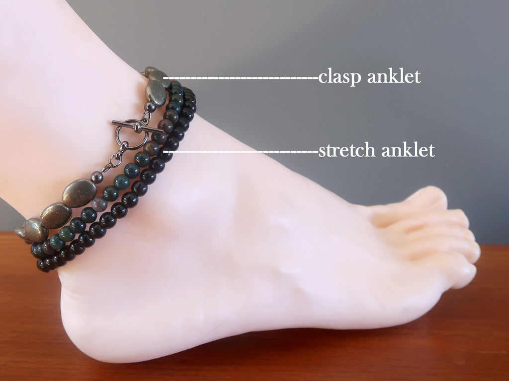 Anklet Guide - Sizing & Types - Satin Crystals Jewelry Boutique