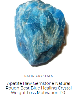 raw gemstone blue apatite bouler for crystal grids and feng shui by satin crystals