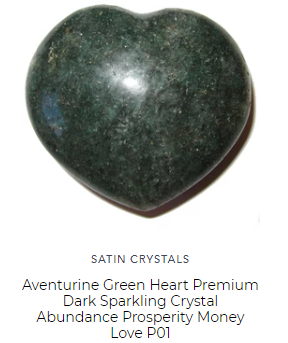 green aventurine heart for love abundance and chakra flow by satin crystals