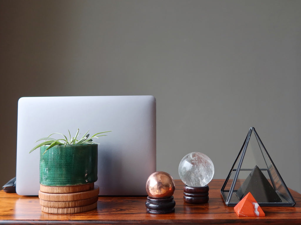 crystals to decorate your office work desk