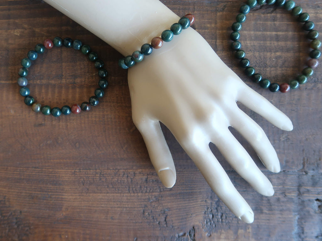 Bloodstone Bracelets - Unique Gifts for Jewelry Lovers - Satin Crystals