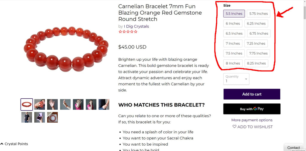 shop for the perfect bracelet size