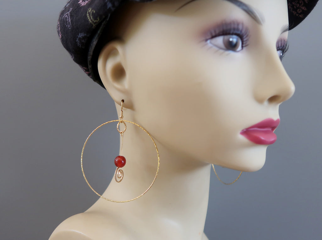 Large Hoop Earrings - Unique Gifts for Jewelry Lovers - Satin Crystals
