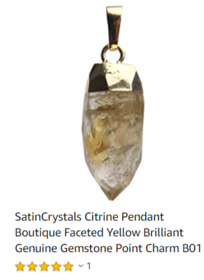 citrine pendant for prosperity by satin crystals