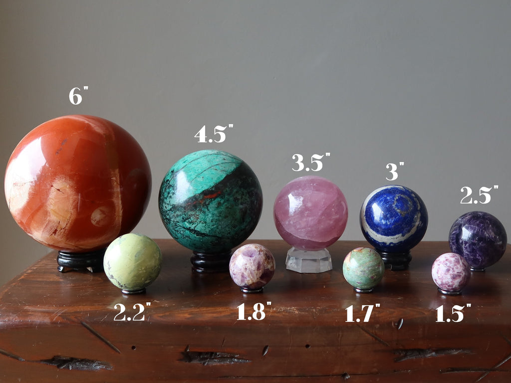 comparison of crystal ball sizes