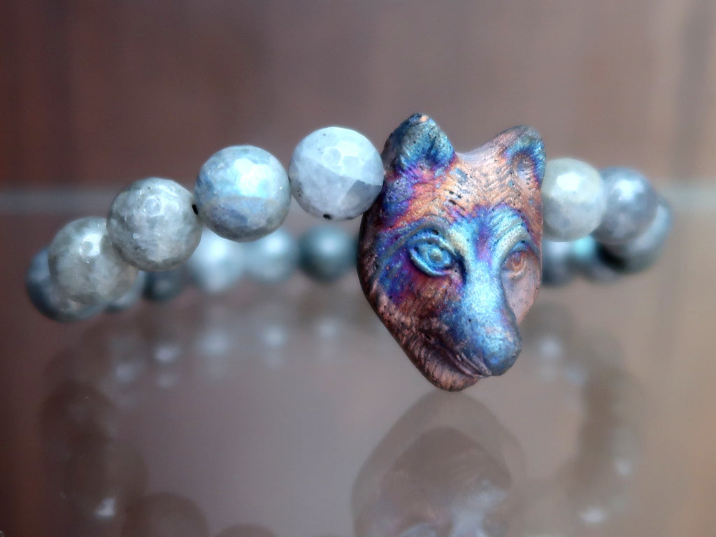 Wolf Head Bracelets - Unique Gifts for Jewelry Lovers - Satin Crystals
