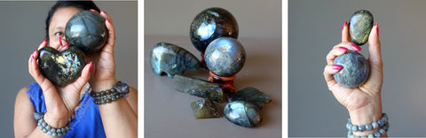 tryptch of labradorite images