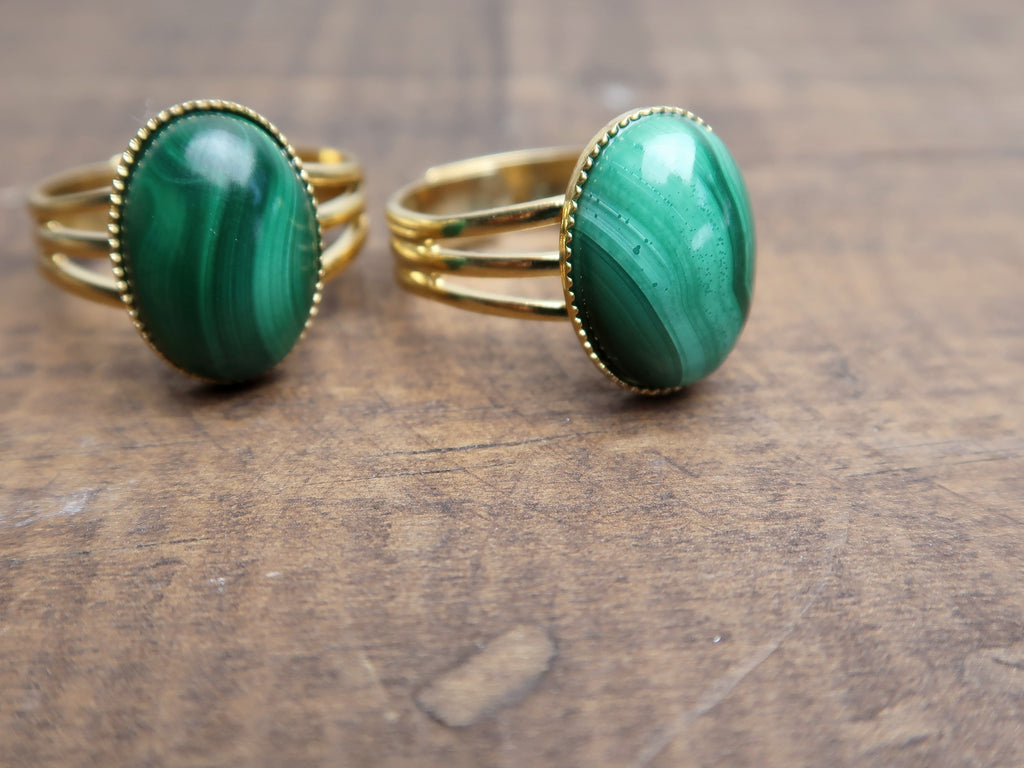 Adjustable Gemstone Rings - Unique Gifts for Jewelry Lovers - Satin Crystals