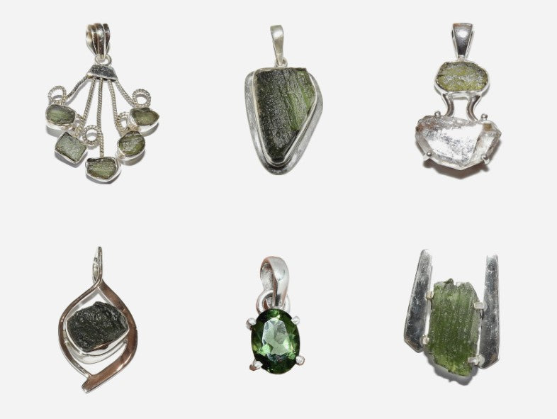 moldavite jewelry and meteorites