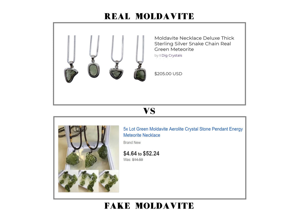 real vs fake moldavite
