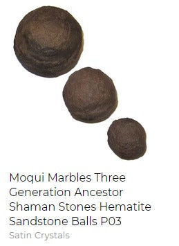 three generation moqui marble ball shaman stones
