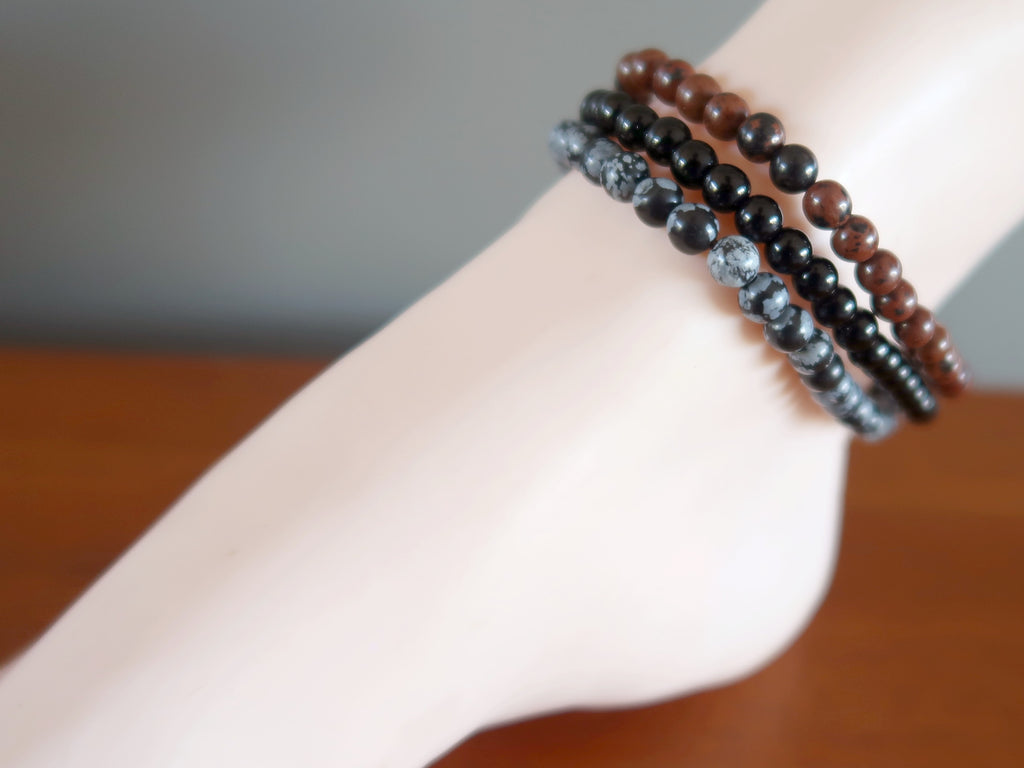Obsidian Anklets - 9 Grounding Crystal Healing Gift Ideas - Satin Crystals