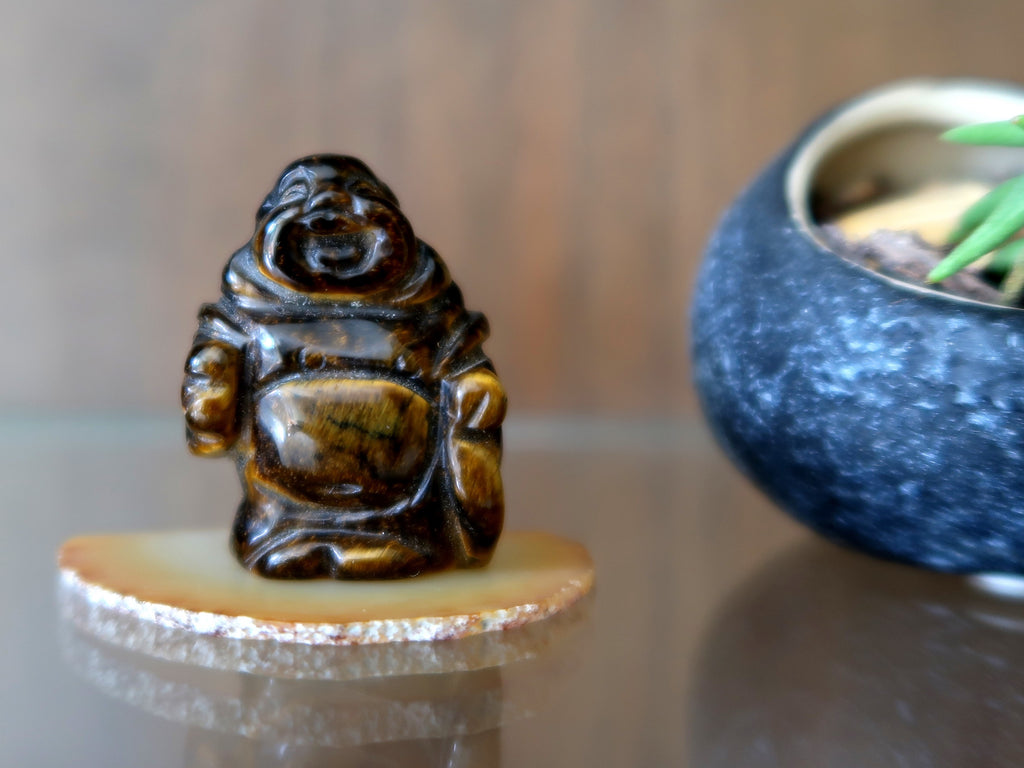 Tigers Eye Article - Laughing Buddha - Satin Crystals