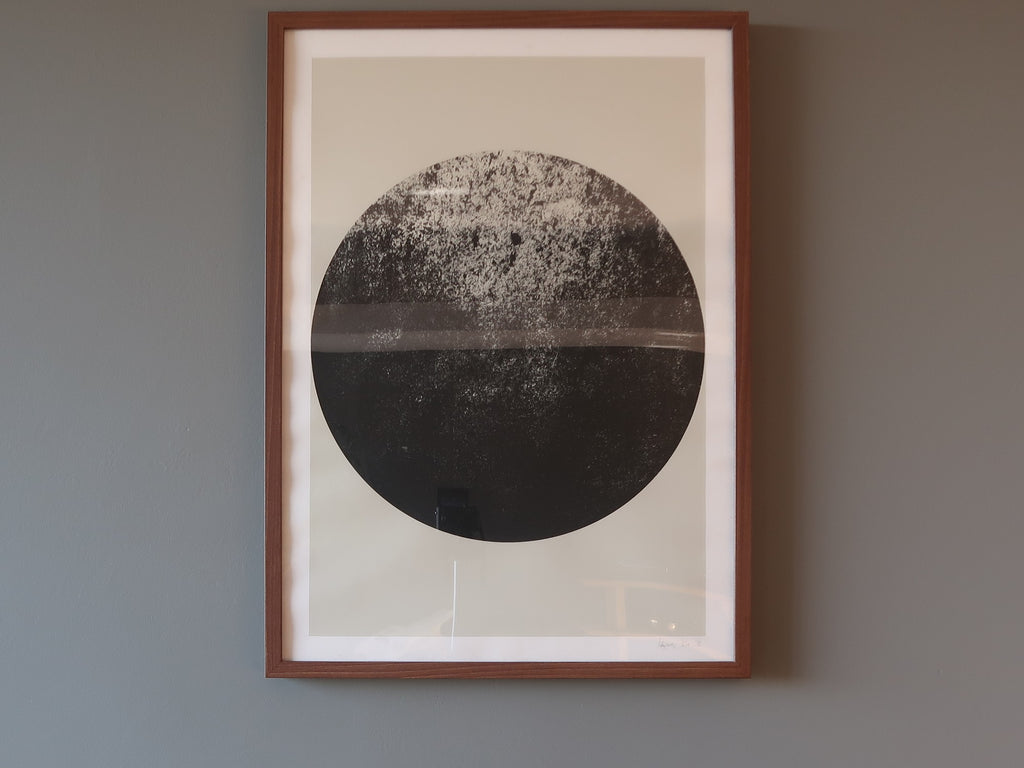 framed photo of the full moon