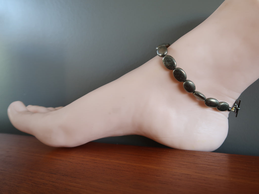 Pyrite Anklets - Unique Gifts for Jewelry Lovers - Satin Crystals