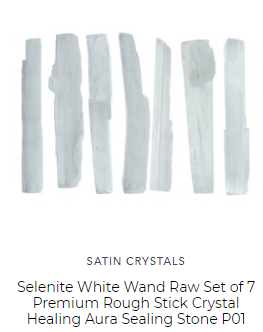 selenite raw gemstone sticks protect the aura from negative forces and for sale online by satin crystals gemstone crystal store