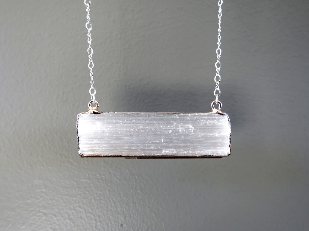 White Selenite - Unique Gifts for Jewelry Lovers - Satin Crystals