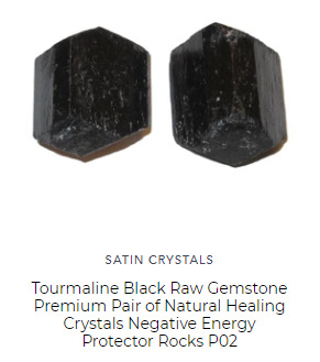 pair of natural black pyrite raw gemstones are protective of your home and office and body