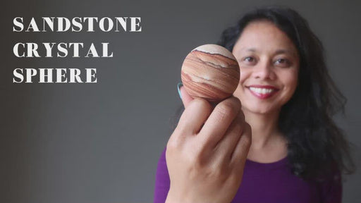video on sandstone crystal spheres