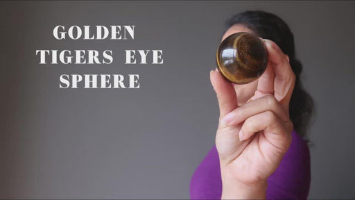 video on golden tigers eye spheres
