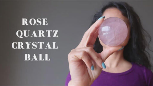 video about the rose quartz crystal ball