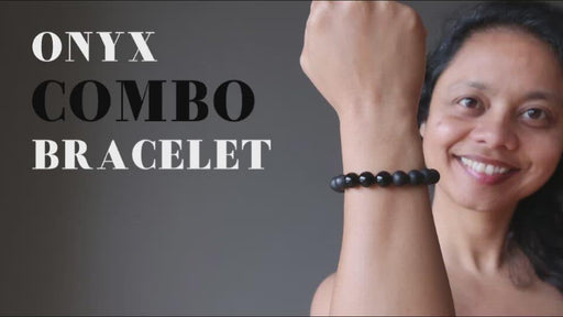video showcasing black onyx bracelet
