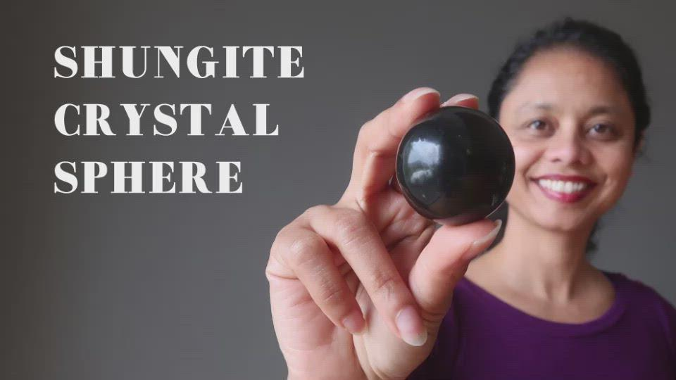 video on the shungite crystal sphere