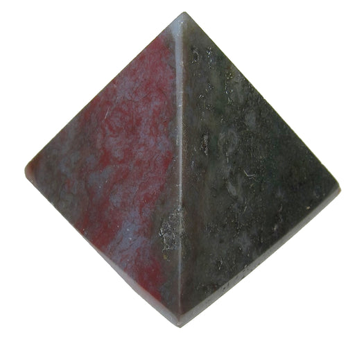 "Agate Moss Pyramid 2.7"" Collectible Green Red Lavender Crystal Earthy Energy Healing Stone C50"