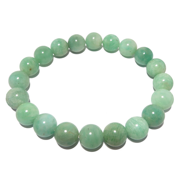 Amazonite Bracelet 8mm Soothing Blue-Green Gemstone Round Stretch Healing Stones B01
