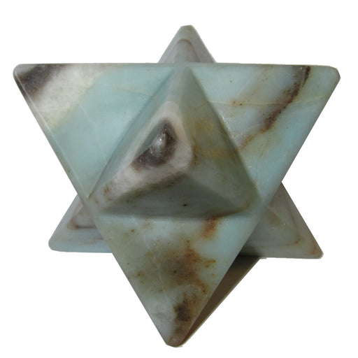 Amazonite Polygon Merkaba Star Sea Green Mineral Rich Crystal Meditation Stone P02