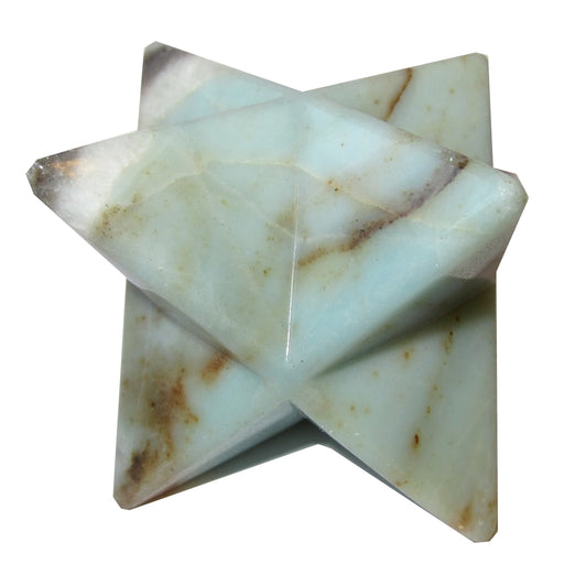 Amazonite Polygon Premium Merkaba Star Sea Green Mineral Rich Crystal Meditation Stone P02