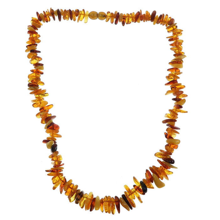 Amber Necklace Warm Autumn Colors Real Baltic Gems Knotted