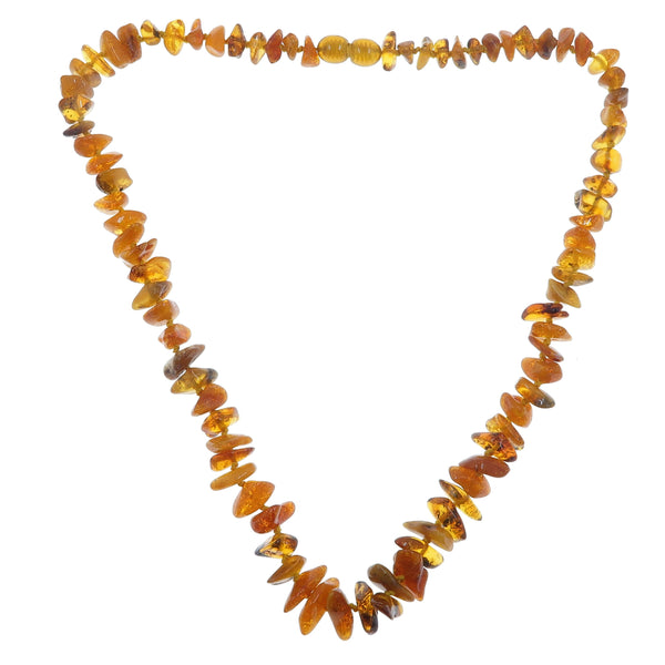 Amber Necklace Boutique Burnt Honey Orange Authentic Baltic Gemstone Yellow Knotted B12