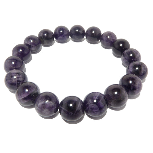dark purple amethyst beaded stretch bracelet