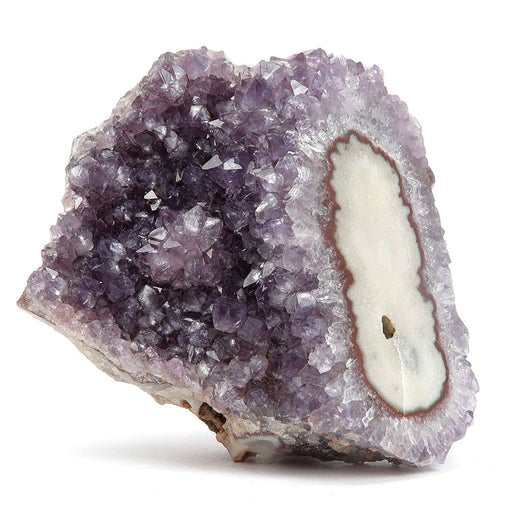 "Amethyst Cluster Collectible Rare Protective Eye Intuitive Visions Purple Stone of Spirit & Nature- Uruguay C54 (3.4"" Mirror of the Soul)"