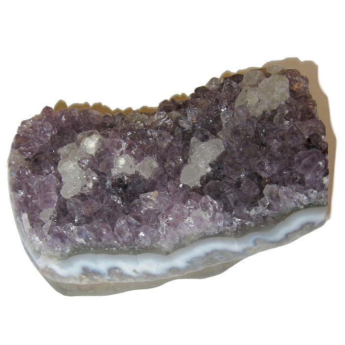 Amethyst Cluster 61 Purple Crystal Standing Display Stone Calcite Positive Energy Gift Room Office Decor 3.8""