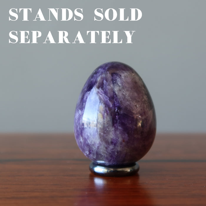 Amethyst Egg Crystal Healing Stone Spiritual Energy Purple Gemstone 1.8""