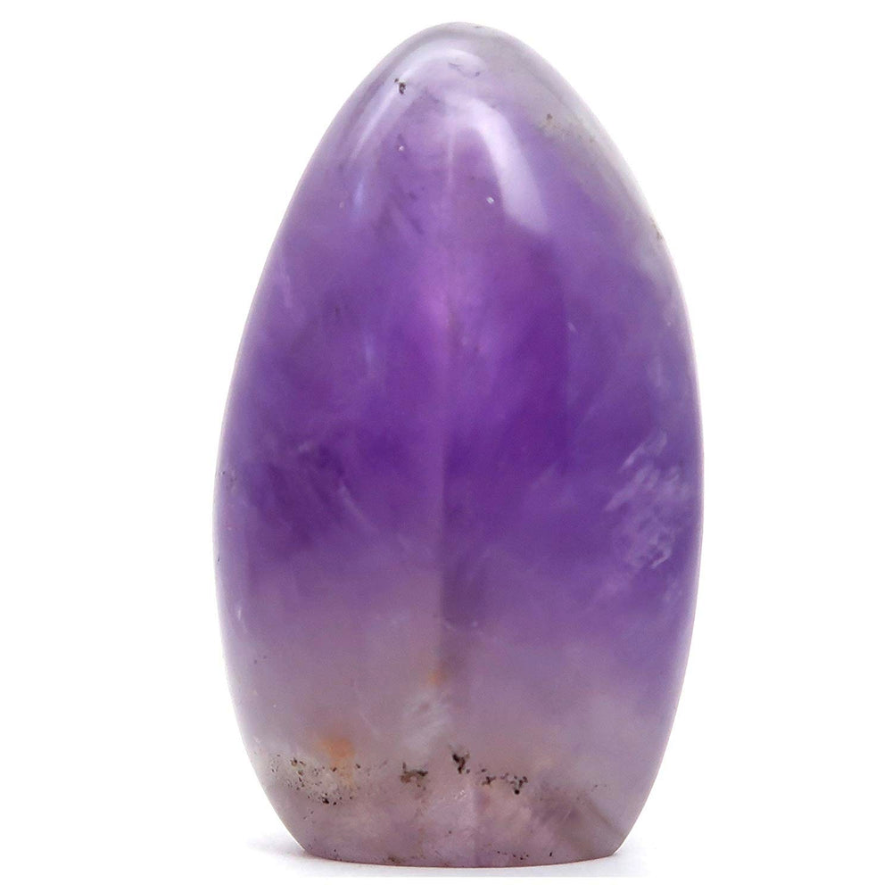 "Amethyst Polished Stone 3.6"" Collectible Clear Purple Crystal Standing Display Stone Spiritual Energy Gem C50"