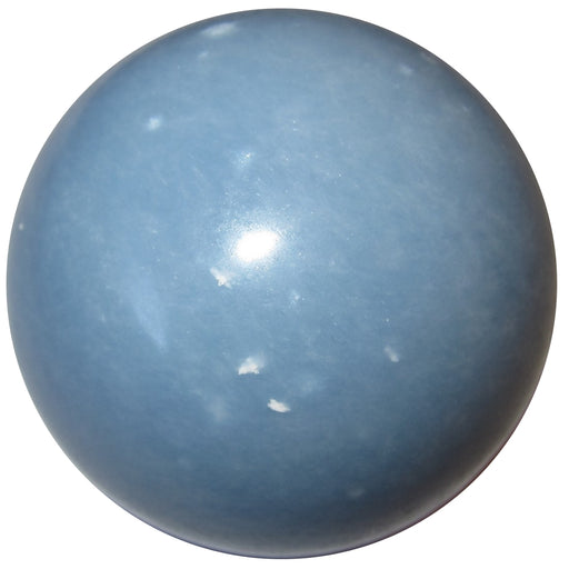 blue angelite sphere with white inclusions