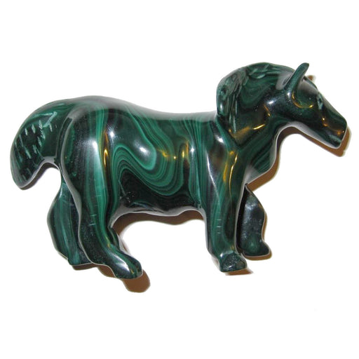 Malachite Horse Green Stone Carving Stallion Energy Spirit Animal