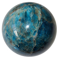Apatite Ball 67 Glorious Blue Sheen Positive Manifestation Stone Sphere Crystal 2.1