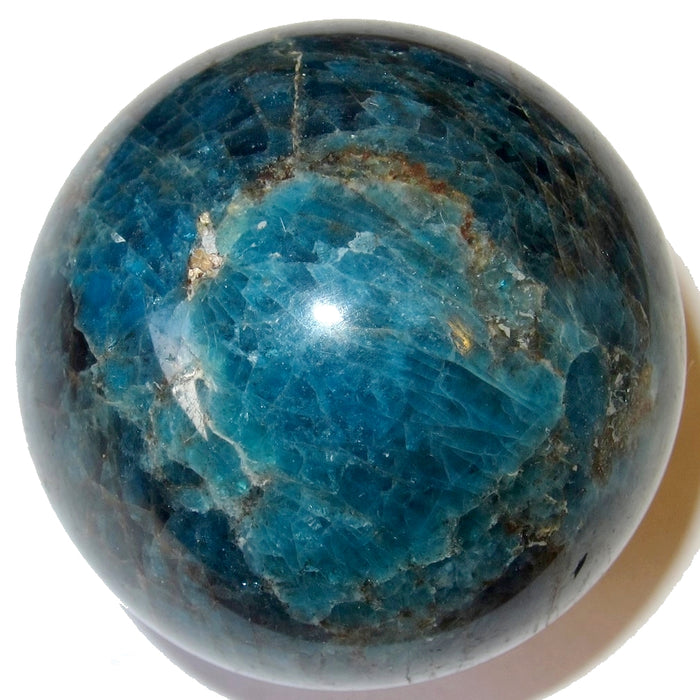 "Apatite Ball 2.1"" Collectible Glorious Blue Sheen Positive Manifestation Stone Sphere Crystal C67"